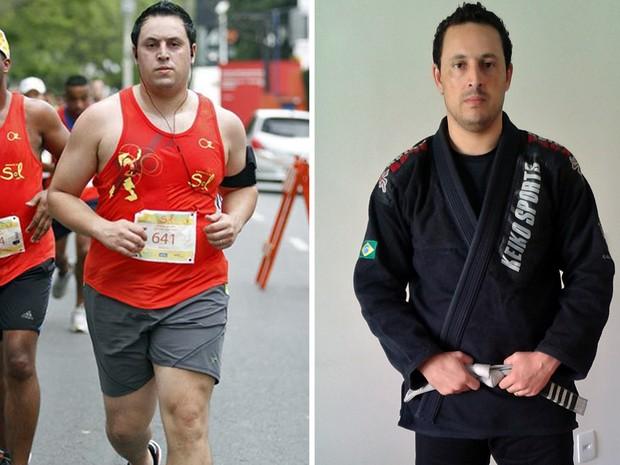 Após se mudar para SP, Márcio Vinícius engordou e chegou a pesar 119 kg (Foto: Arquivo pessoal/Márcio Vinícius Cavalcante)