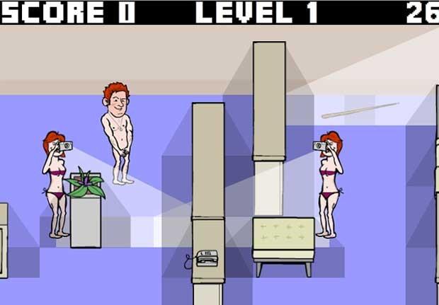 No jogo, o príncipe inglês está pelado e deve escapar de fotógrafos (Foto: Reprodução)