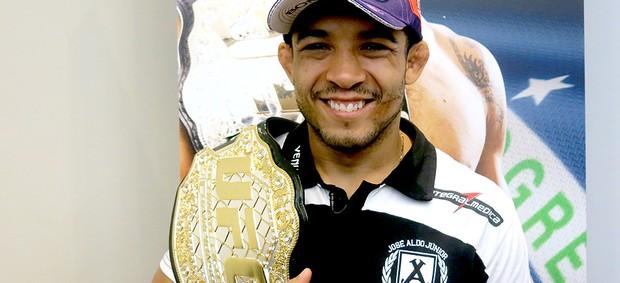 José Aldo cinturão UFC  (Foto: Adriano Albuquerque)