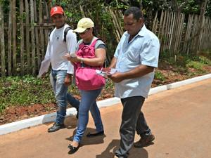 Quase mil pessoas entre agentes de endemias e de saúde participam da ação (Foto: Quésia Melo/G1)