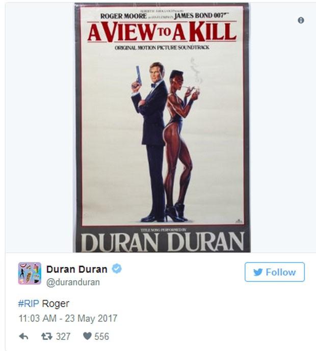 Duran Duran presta homenagem a Roger Moore (Foto: Reprodução)