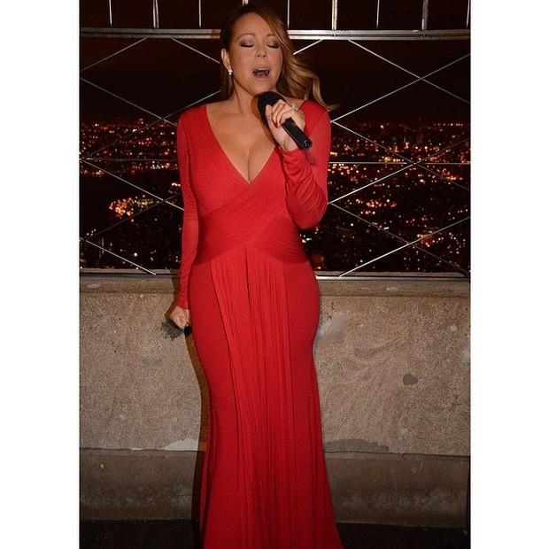 Mariah Carey se apresenta em Nova York, nos Estados Unidos (Foto: Instagram/ Reprodução)