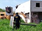 GDF derruba mais 9 casas em área irregular; ação termina nesta sexta