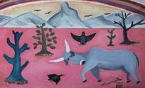 'Simplesmente Capiba' expõe quadros aos 110 anos do nascimento do artista (Reprodução/ Capiba/ Divulgação/ Sesc)