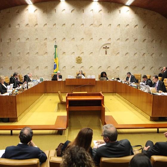Ministros do STF durante sessão plenária. (Foto: Carlos Moura/SCO/STF )