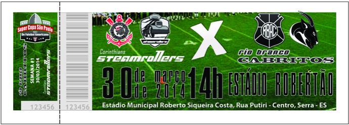 Cabritos x Steamrollers: venda de ingressos para a Super Copa SP 2014 (Foto: Reprodução)