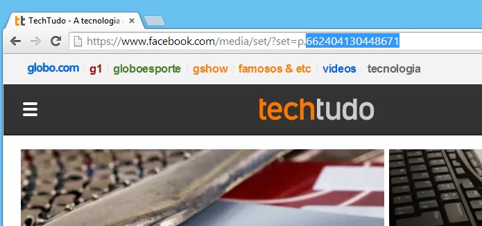 Junte a URL e o código numérico para obter o link (Foto: Reprodução/Helito Bijora)