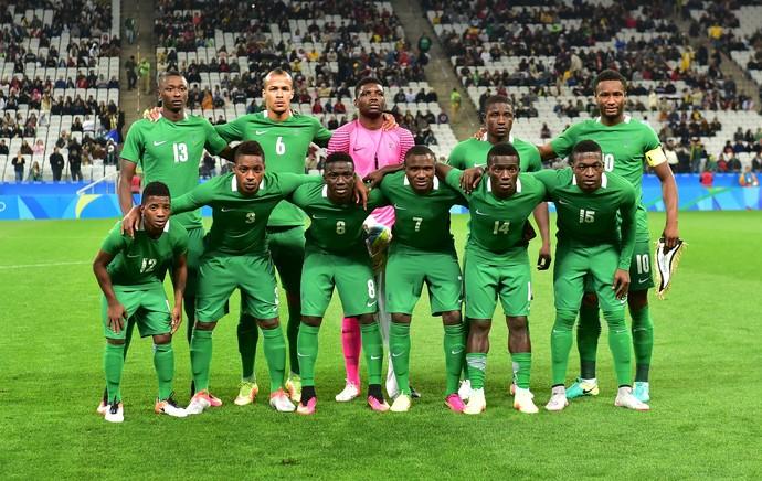 Seleção Nigéria Olimpíada Arena Corinthians (Foto: Marcos Ribolli)