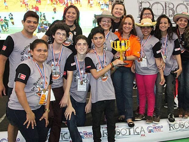 Equipe paraibana foi campeã (Foto: Cristiane Almeida/Sistema Federação das Indústrias do Estado do Amazonas)