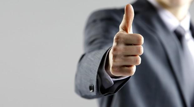polegar; otimismo (Foto: ThinkStock)