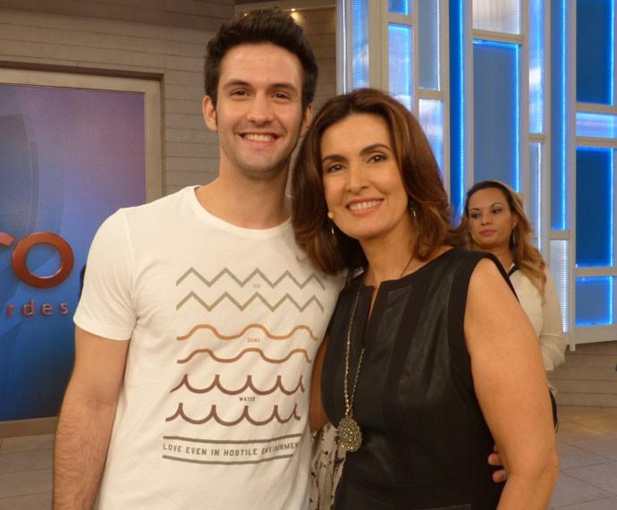 Fátima e André Loddi (Foto: Viviane Figueiredo Neto/ Gshow)