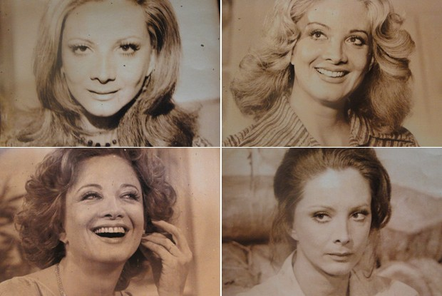 Personagens antigos de Glória aparecem na decoração do cenário de Louco por Elas (Foto: Louco Por Elas/TV Globo)