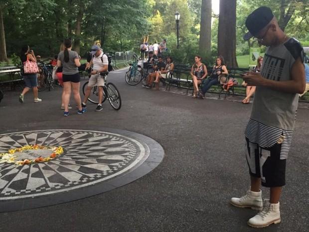 MC Duduzinho em Nova York, nos Estados Unidos (Foto: Divulgação)