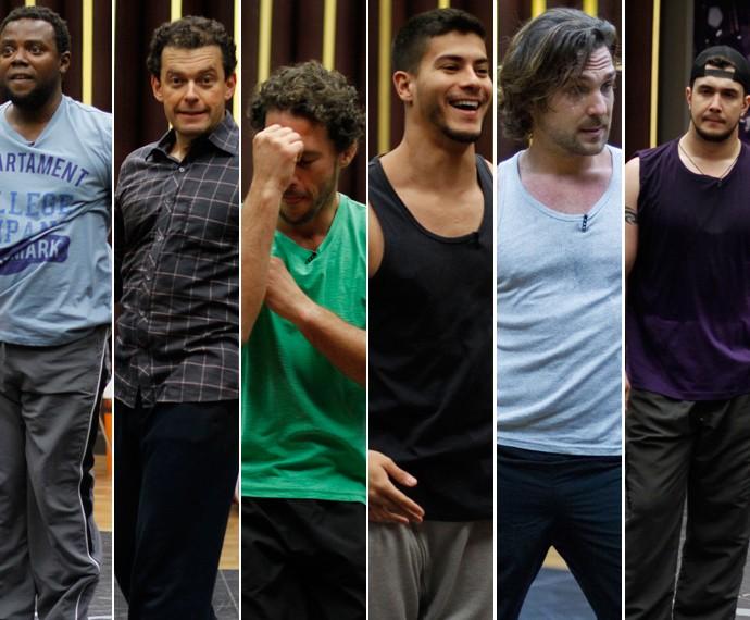 Érico Brás, Fernando Rocha, Flávio Canto, Arthur Aguiar, Igor Rickli, Bruno Boncini (Foto: Fabiano Battaglin / Gshow)