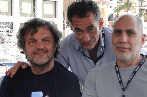Chico Diaz, Emir Kusturica e Guillermo Arriaga (Foto: Arquivo pessoal)
