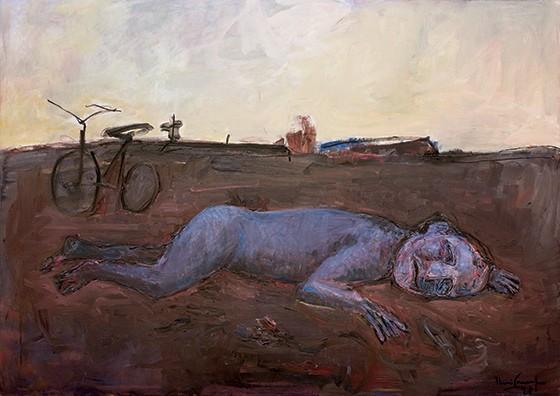 FASE SOMBRIA  O óleo sobre tela No vento e na terra I, pintado por Iberê em 1991. Após o crime, sua obra ficou mais soturna (Foto: Fábio Del Re/VivaFoto)