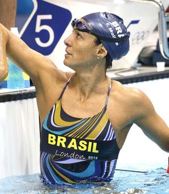 Fabiola Molina no treino na natação em Londres (Foto: EFE)