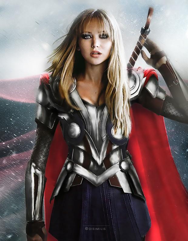 Thor, por Jennifer Lawrence (Foto: Ágnes Domokos/disimilis.tumblr.com)