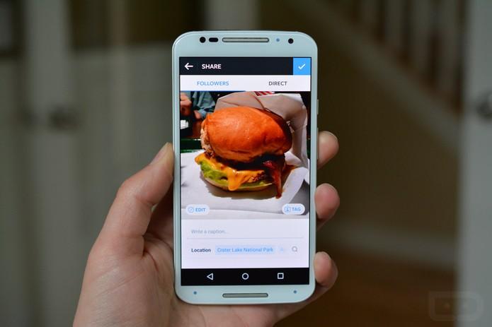 Usuário testa novo visual do editor de fotos do Instagram (Foto: Reprodução/Droid-Life)