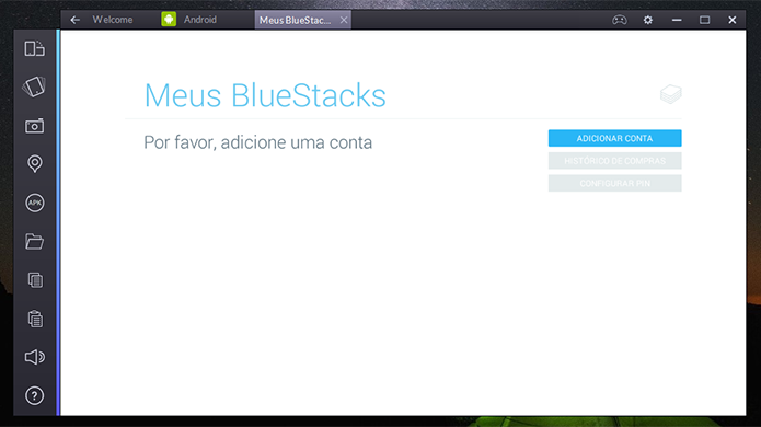 BlueStacks pode ter dados sincronizados a partir de conta do serviço (Foto: Reprodução/Elson de Souza)