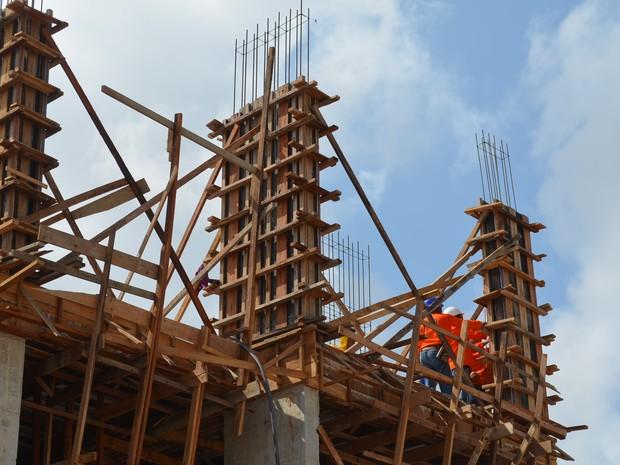 Atividades no canteiro de obras gerou 400 empregos diretos, diz Exército (Foto: John Pacheco/G1)