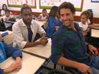 Flávio Canto, Lázaro Ramos, Leandra Leal e Dira Paes visitam escolas