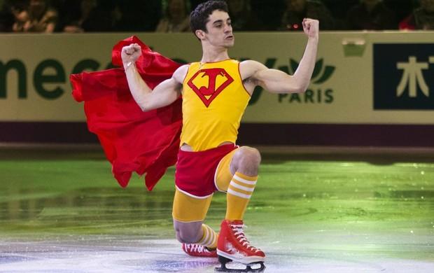 patinação Javier Fernandez na exibição do Mundial do Canadá (Foto: Reuters)