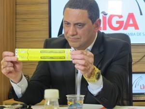 Paulo Sérgio Ferreira, presidente da liga (Foto: Nathália Duarte/G1)