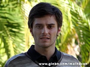 Martin não acredita que está vendo Flaviana ali (Foto: Malhação / TV Globo)