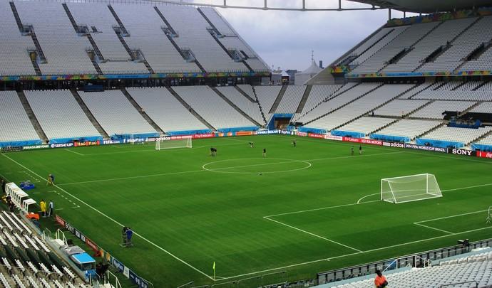Arena Corinthians véspera de Uruguai x Inglaterra (Foto: Marcelo Hazan)