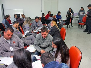 Novos funcionários receberam capacitação nesta segunda-feira. (Foto: Guilherme Berti/Prefeitura de Mogi)