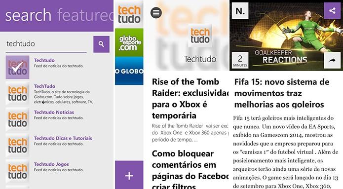 Newsly é um leitor de notícia para Windows Phone com navegação intuitiva a partir de gestos (Foto: Reprodução/Elson de Souza)