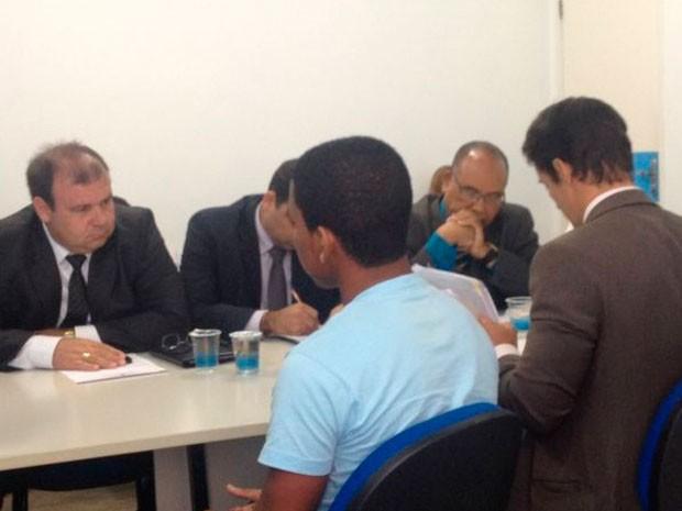 Testemunha de defesa depõe em audiência sobre caso New Hit, na Bahia (Foto: Divulgação/TJ-BA)
