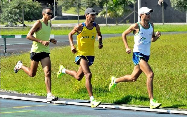 Seleção brasileira atletismo treino Praia Grande (Foto: Alexandre Giulietti / Prefeitura de Praia Grande)