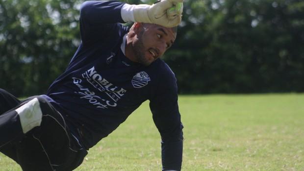 Alex Santana, goleiro do Comercial (Foto: Cleber Akamine / Globoesporte.com)