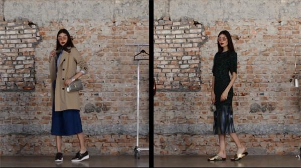 Editoras de moda montam produções com itens metalizados (Foto: Reprodução / YouTube)