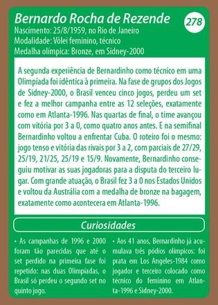 Medalhistas do Brasil card Bernardinho (Foto: Reprodução)