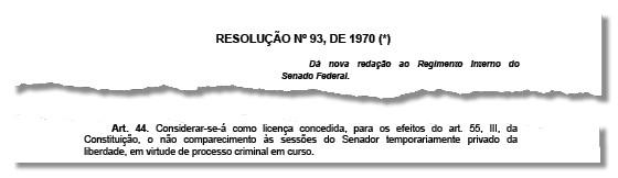 Senado prevê licença para senadores presos (Foto: Reprodução)