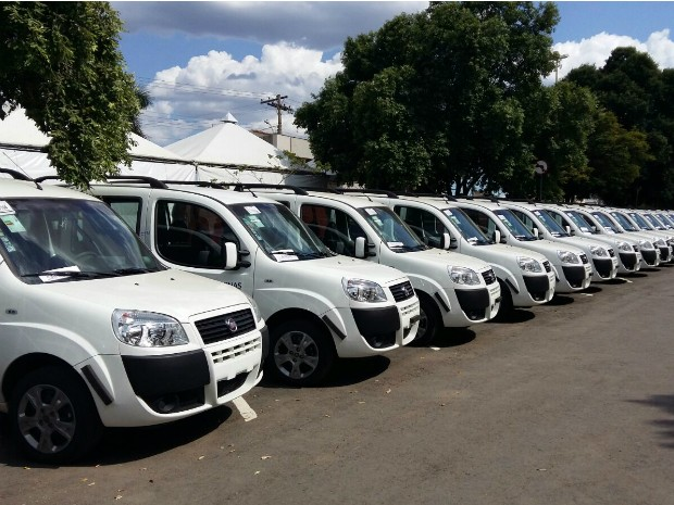 Ao todo foram entregues 158 novos veículos (Foto: Yure Dickson / G1)