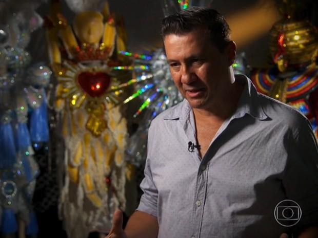 Amarildo de Mello, carnavalesco da Águia de Ouro (Foto: TV Globo/Reprodução)