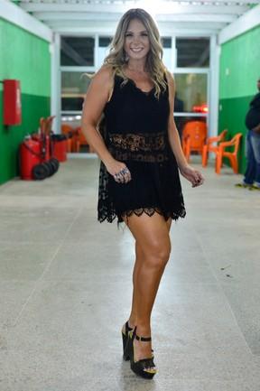 Carla Perez em bastidores de show em Salvador, na Bahia (Foto: André Muzell/ Brazil News)
