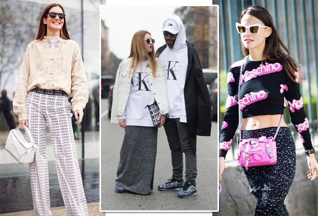 Gala González e outras estrelas do street style investindo na logomania (Foto: Imaxtree/Reprodução Instagram)