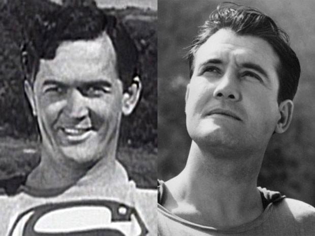 Kirk Alyn em 'Superman' e George Reeves em 'Superman and the mole man' (Foto: Divulgação)