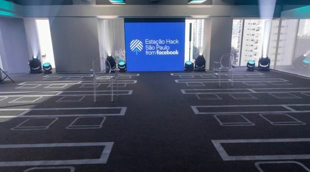 O Estação Hack é o primeiro espaço do Facebook voltado ao empreendedorismo no mundo  (Foto: Divulgação)