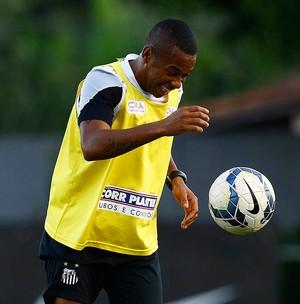 Robinho santos treino (Foto: Ricardo Saibun / Santos FC)
