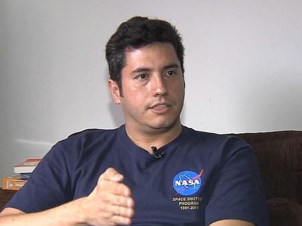 Ivan é o únicobrasileiro a trabalhar em missão da Nasa (Foto: Reprodução / TV TEM)