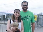 Thiago Lacerda e Vanessa Lóes levam filho ao Rock in Rio
