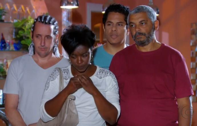 Ruço, Jiló, Mofado e Jurema de Cheias de Charme (Foto: Cheias de Charme / TV Globo)