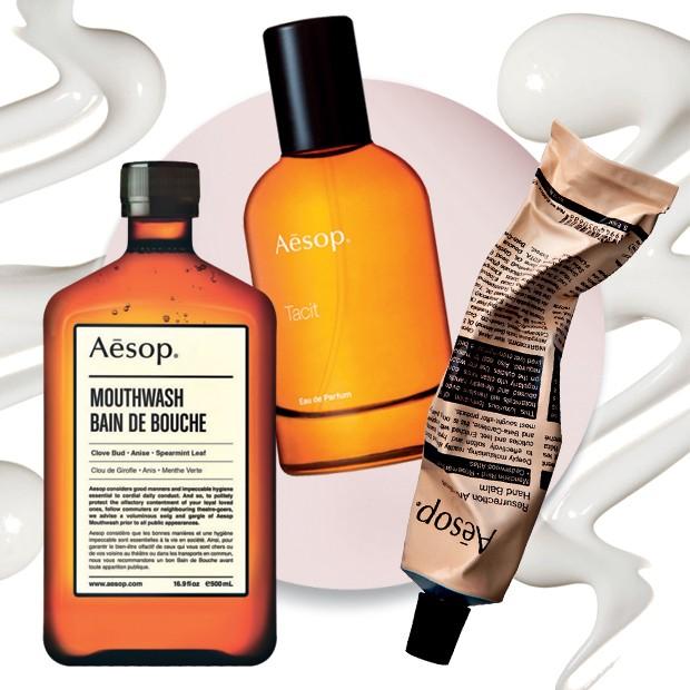 Vogue ama: da esquerda para a direita: Enxaguante bucal, R$ 90, Perfume Tacit e Bálsamo aromático para as mãos Resurrection, R$ 97 (Foto: Divulgação)