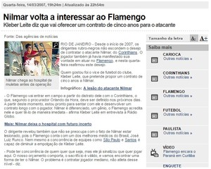 Nilmar no Flamengo print (Foto: Reprodução)